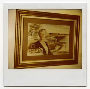 Primary view of object titled '[Polaroid Photograph of Painting of Harriet Doyle May and Box T Ranch]'.