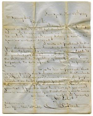[Letter to Mr. Young from Thomas Ward, November 28, 1859]