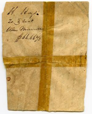 Primary view of object titled '[Bill of sale for slaves, William Murrell to the Estate of Samuel Blair, April 2, 1845]'.