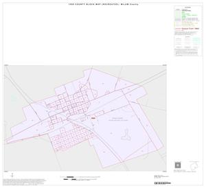Primary view of object titled '1990 Census County Block Map (Recreated): Milam County, Inset D01'.