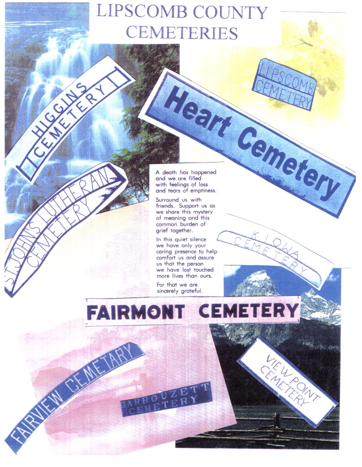 Lipscomb County Cemeteries                                                                                                      Front Cover