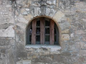 Primary view of object titled 'Arched window at the Alamo'.