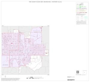 Primary view of object titled '1990 Census County Block Map (Recreated): Stephens County, Inset A02'.