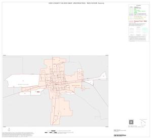 Primary view of object titled '1990 Census County Block Map (Recreated): Red River County, Inset A01'.