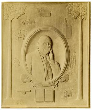 Primary view of object titled '[Wood Carving of William Henry Stark]'.