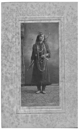 Primary view of object titled '[Catherine Elizabeth Brown Griggs in her Camp Fire Costume]'.