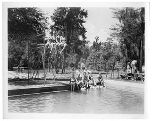 Primary view of object titled '[Swimmers in Bathing Suits]'.