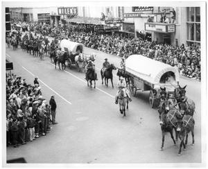 Primary view of object titled '[Parade in Houston]'.