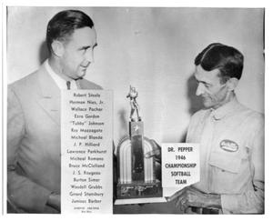 Primary view of object titled '[1946 Softball Championship Trophy]'.