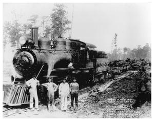 Primary view of object titled '[Engine 14 with Crew in Louisiana]'.