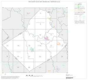 1990 Census County Block Map (Recreated): Wharton County, Index