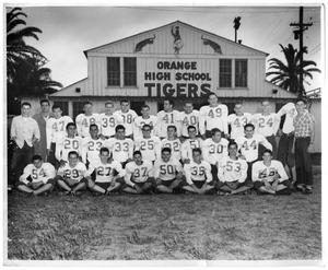 "Primary view of object titled '[Orange Tigers ""B"" Squad, 1951]'."