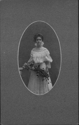 Primary view of object titled '[Ada Wessendorff as a teenager (about 16 yrs old).]'.