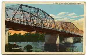 Primary view of object titled '[Postcard of Neches River Bridge]'.