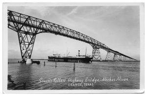 Primary view of object titled '[Postcard of South's Tallest Highway Bridge]'.