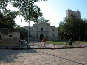 Primary view of object titled 'Front  View of The Alamo'.