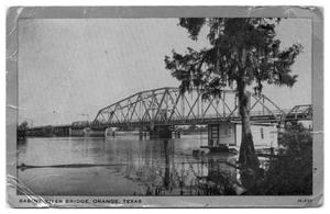 Primary view of object titled '[Photograph of Sabine River Bridge]'.
