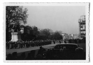Primary view of object titled '[General DeGaulle Leaving Notre Dame]'.