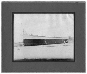 Primary view of object titled '[Photograph of W.A Ebsen After Launching]'.