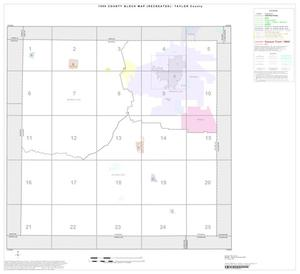 Primary view of object titled '1990 Census County Block Map (Recreated): Taylor County, Index'.