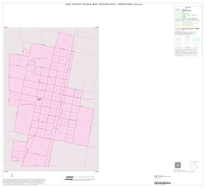 Primary view of object titled '1990 Census County Block Map (Recreated): Freestone County, Inset B01'.