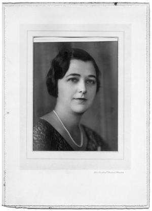 Primary view of object titled 'Portrait of Gladys Slade Brown as a young woman'.