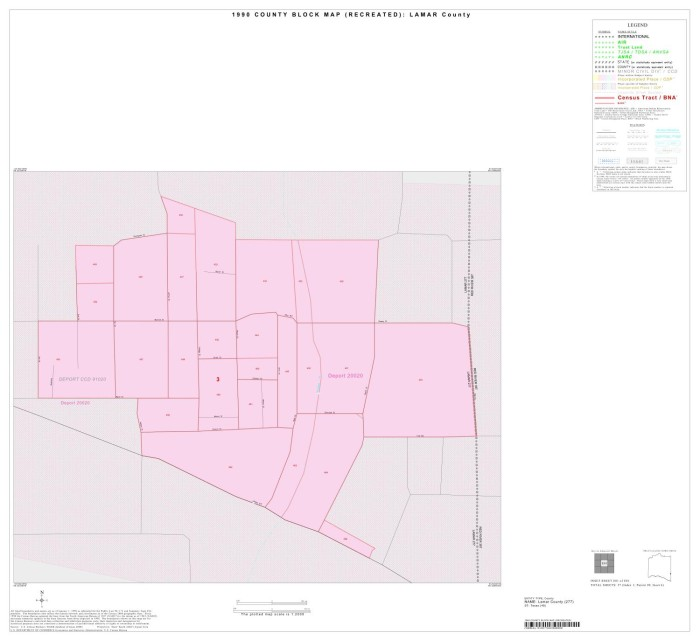 1990 Census County Block Map Recreated Lamar County