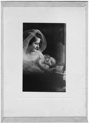Primary view of object titled 'Portrait of Gladys Slade Brown holding Edgar Brown III at his Christening'.