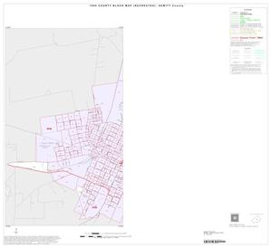 Primary view of object titled '1990 Census County Block Map (Recreated): DeWitt County, Inset C01'.