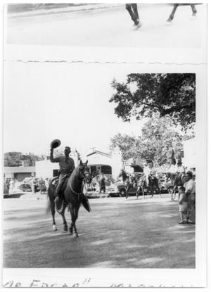 Primary view of object titled 'Edgar Brown on a horse during a parade'.