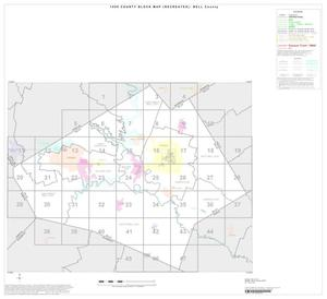 Primary view of object titled '1990 Census County Block Map (Recreated): Bell County, Index'.
