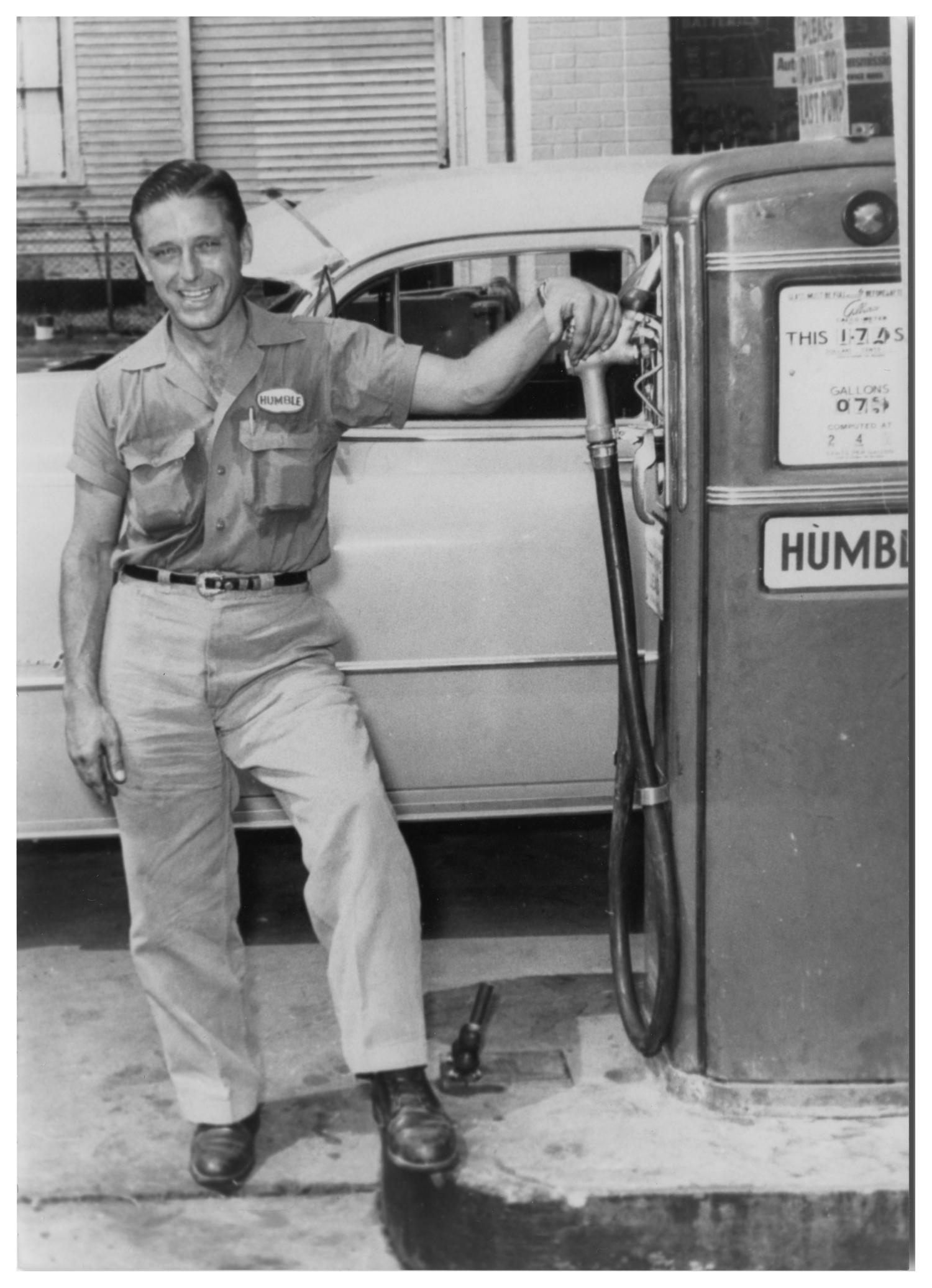 attendant at a humble gas station the portal to texas history