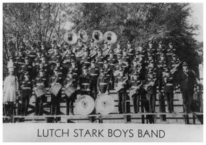 Primary view of object titled '[Lutcher Stark Boys Band]'.