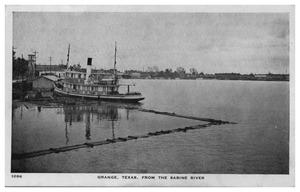 Primary view of object titled '[Postcard of Orange, Texas from the Sabine River]'.