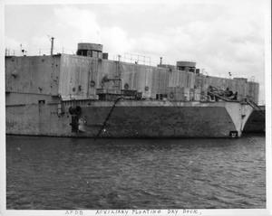Primary view of object titled '[Auxiliary Floating Dry Dock]'.