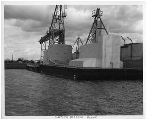 Primary view of object titled '[Floating Derrick Barge]'.
