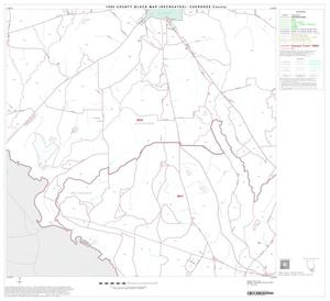 Primary view of object titled '1990 Census County Block Map (Recreated): Cherokee County, Block 18'.