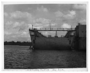 Primary view of object titled '[Auxilary Floating Dry Dock]'.