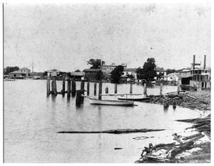 Primary view of object titled '[Riverfront in Orange, Texas]'.