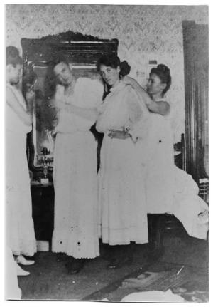Primary view of object titled '[Four Women at a Slumber Party]'.