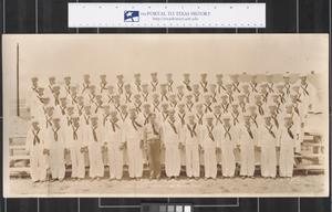 Primary view of object titled 'Company 87, 14th Battalion at Camp Wallace, Texas'.