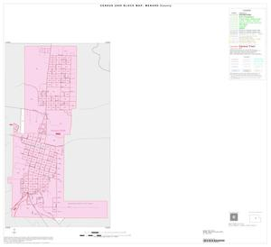 Primary view of object titled '2000 Census County Block Map: Menard County, Inset A01'.