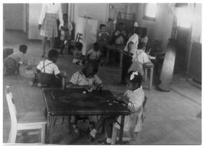 Primary view of object titled '[Black Children Playing at Day Care]'.