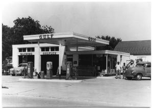 Primary view of object titled 'Gulf Gas Station'.