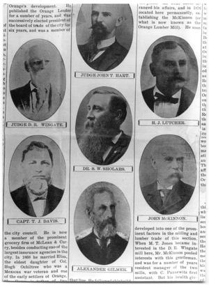 1903 newspaper clipping of several portraits