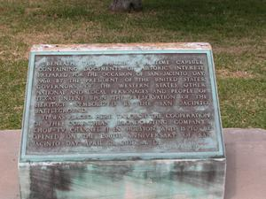 Primary view of object titled 'Plaque for the 1960 San Jacinto Day time capsule'.
