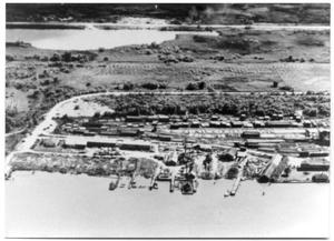 Primary view of object titled 'Aerial view of a the Weaver Shipyard'.