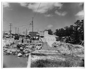Primary view of object titled '[Photograph of Flooded Street]'.