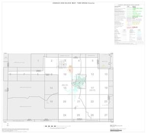 Primary view of object titled '2000 Census County Block Map: Tom Green County, Index'.