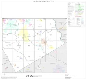 Primary view of object titled '2000 Census County Block Map: Ellis County, Index'.